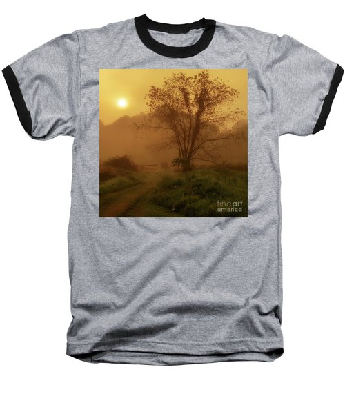 Misty Mountain Sunrise Baseball T-Shirt by Thomas R Fletcher