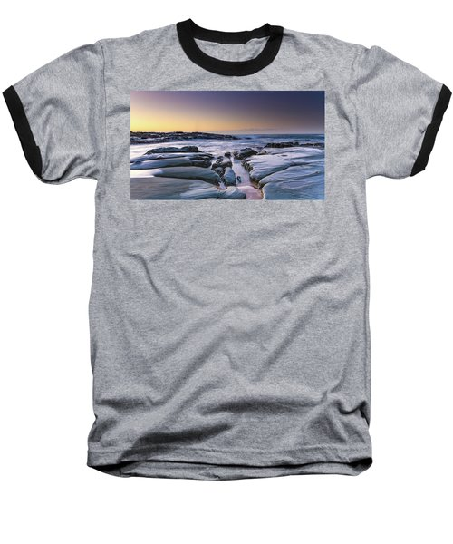 Sunrise Seascape And Rock Platform Baseball T-Shirt