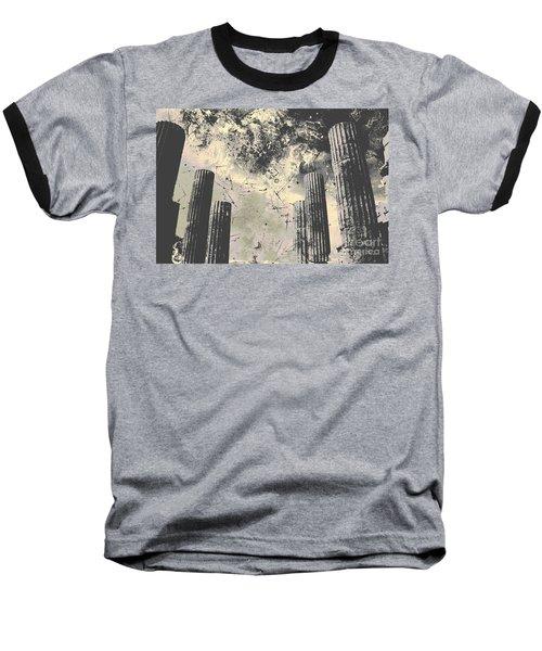 Akropolis Columns Baseball T-Shirt
