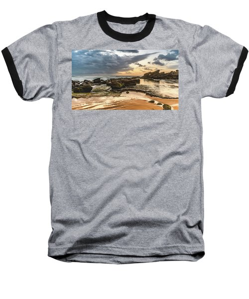 Dawn Seascape Baseball T-Shirt