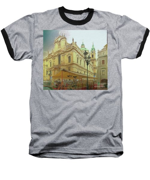 2nd Work Of St. Nicholas Church - Old Town Prague Baseball T-Shirt
