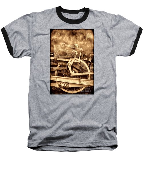 3 10 To Nowhere  Baseball T-Shirt by American West Legend By Olivier Le Queinec