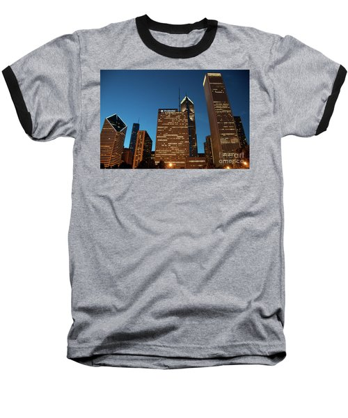 A View From Millenium Park At Dusk Baseball T-Shirt