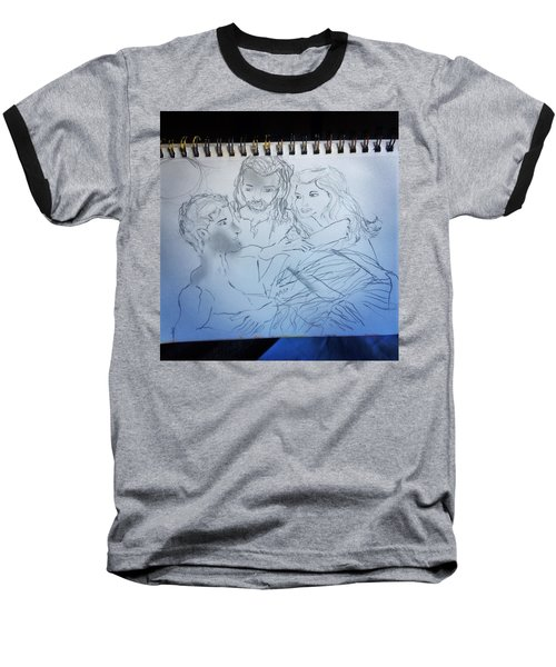 Adam Andeve The Creation Story Baseball T-Shirt