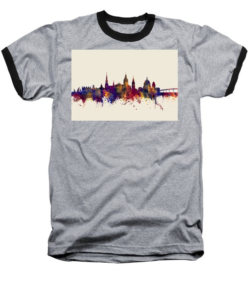 Baseball T-Shirt featuring the digital art Annapolis Maryland Skyline by Michael Tompsett