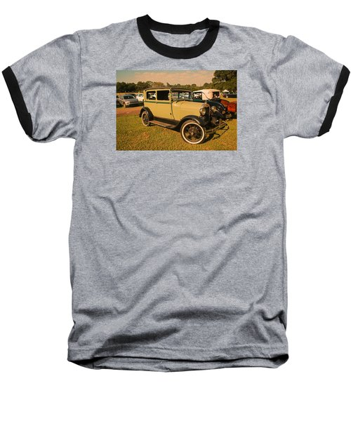 Antique Car Baseball T-Shirt by Ronald Olivier