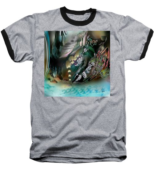 Art Abstract Baseball T-Shirt by Sheila Mcdonald