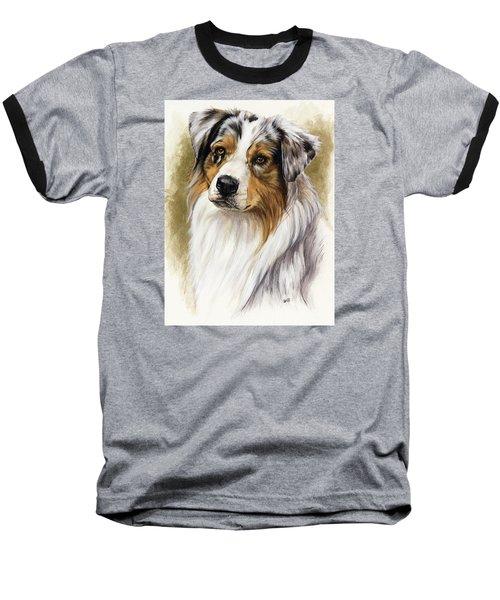 Australian Shepherd Baseball T-Shirt by Barbara Keith