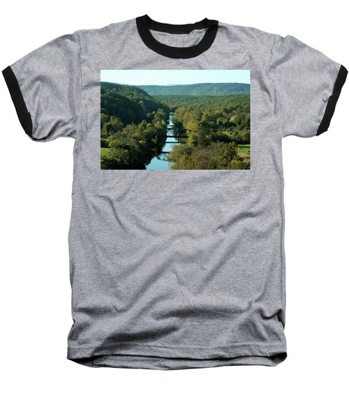 Autumn Landscape With Tye River In Nelson County, Virginia Baseball T-Shirt