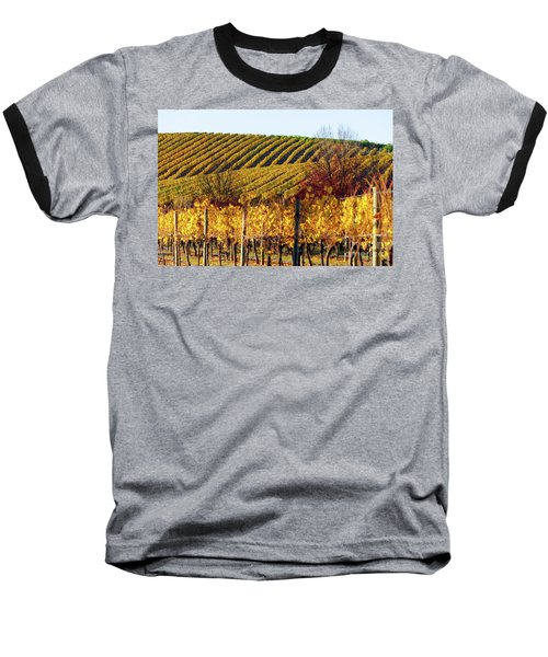 Autumn Vines Baseball T-Shirt by Bill Robinson