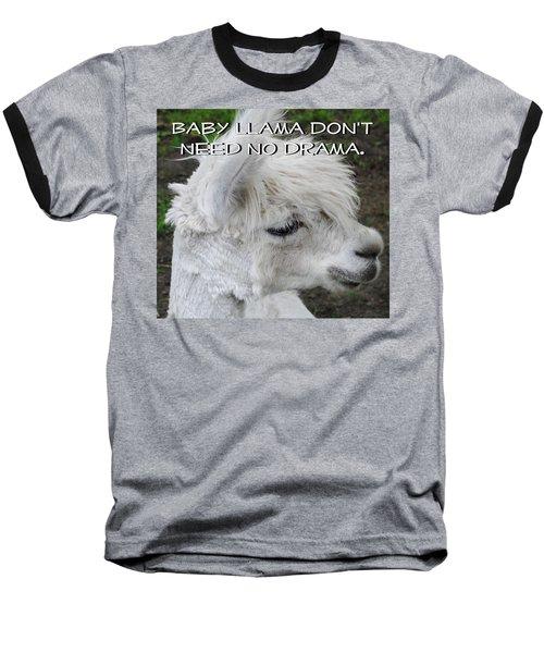 Baby Llama Baseball T-Shirt