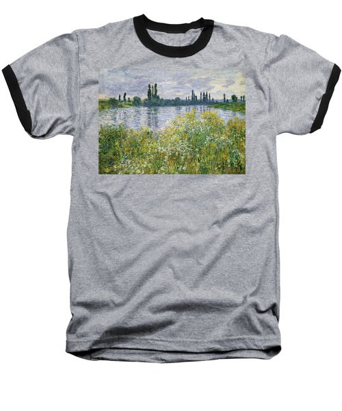 Banks Of The Seine, Vetheuil Baseball T-Shirt