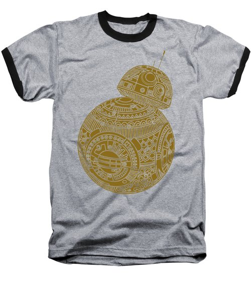 Bb8 Droid - Star Wars Art, Brown Baseball T-Shirt