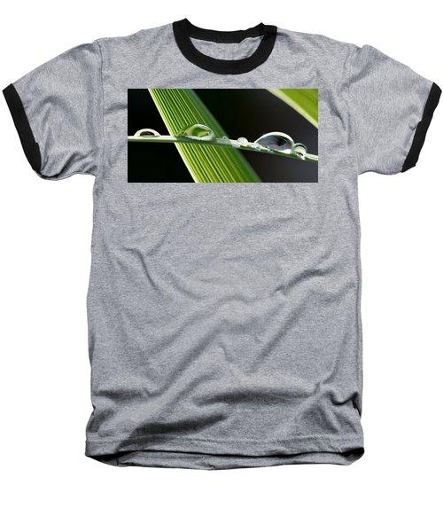 Big Rain Drops On Leaf Baseball T-Shirt by Werner Lehmann