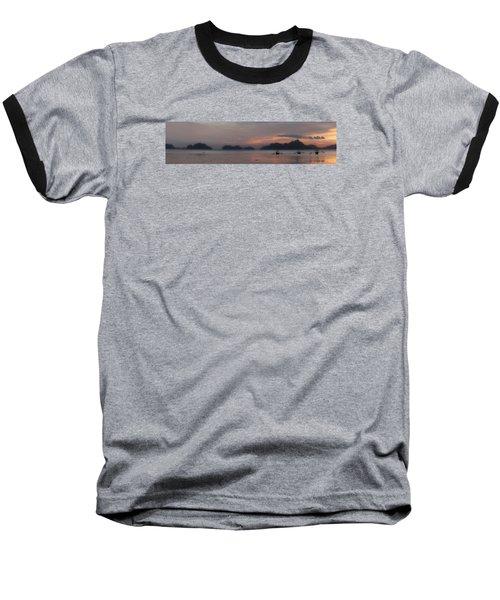 3 Boats Baseball T-Shirt by John Swartz