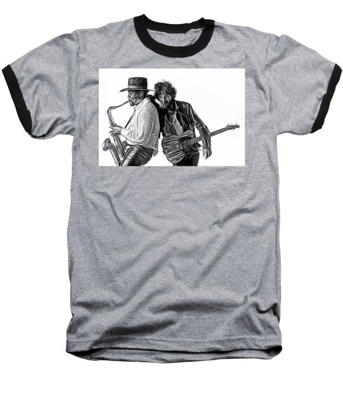 Bruce Springsteen Clarence Clemons Collection Baseball T-Shirt