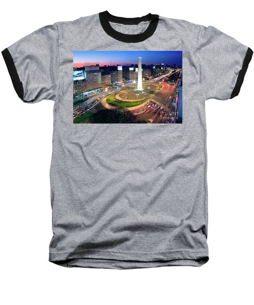 Buenos Aires Obelisk Baseball T-Shirt by Bernardo Galmarini