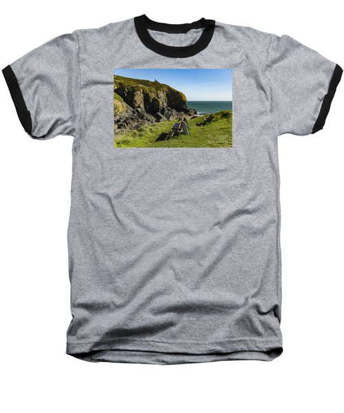 Baseball T-Shirt featuring the photograph Cadgwith Cove by Brian Roscorla
