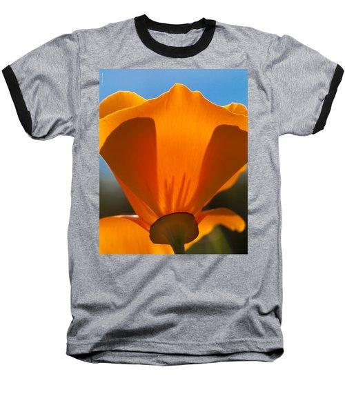 Californian Poppies Baseball T-Shirt