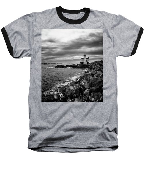 Coquille Lighthouse Baseball T-Shirt