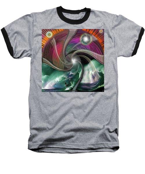 Cosmic Surfer Baseball T-Shirt
