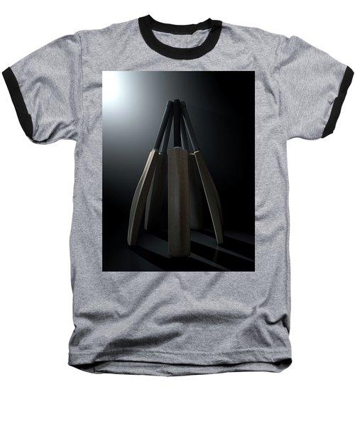 Cricket Back Circle Dramatic Baseball T-Shirt by Allan Swart