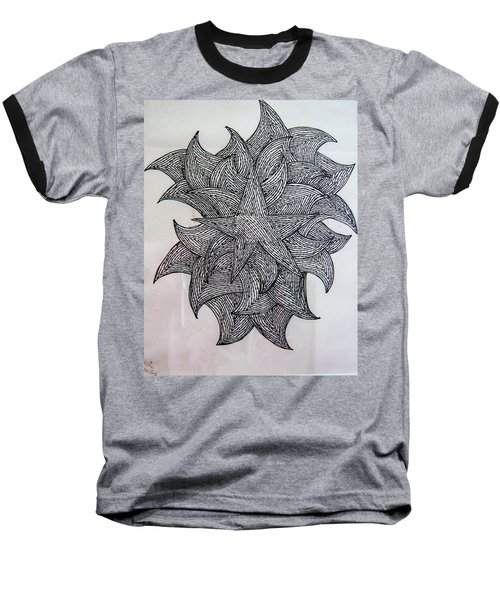 Baseball T-Shirt featuring the drawing 3 D Sketch by Barbara Yearty