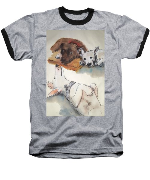 Dogs Dogs  Dogs Album Baseball T-Shirt