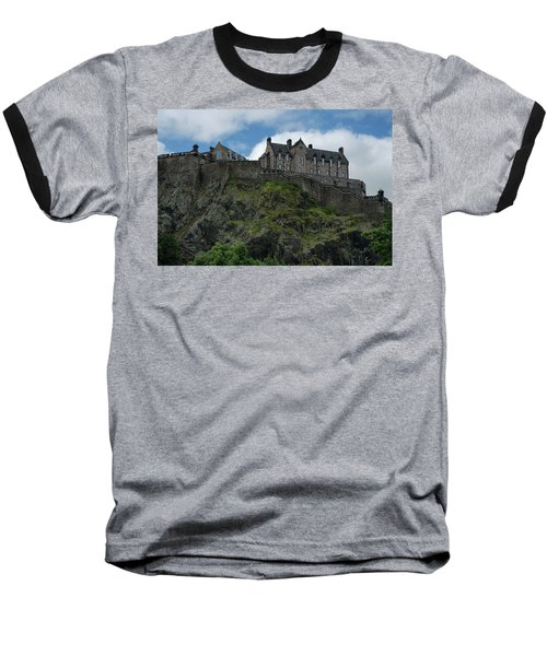Baseball T-Shirt featuring the photograph Edinburgh Castle In Scotland by Jeremy Lavender Photography