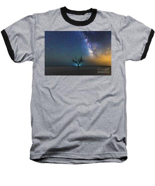 Edisto Island Milky Way Baseball T-Shirt by Robert Loe