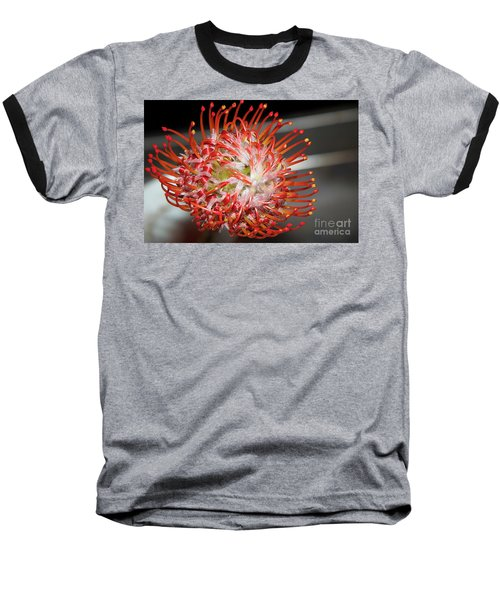 Exotic Flower Baseball T-Shirt by Elvira Ladocki