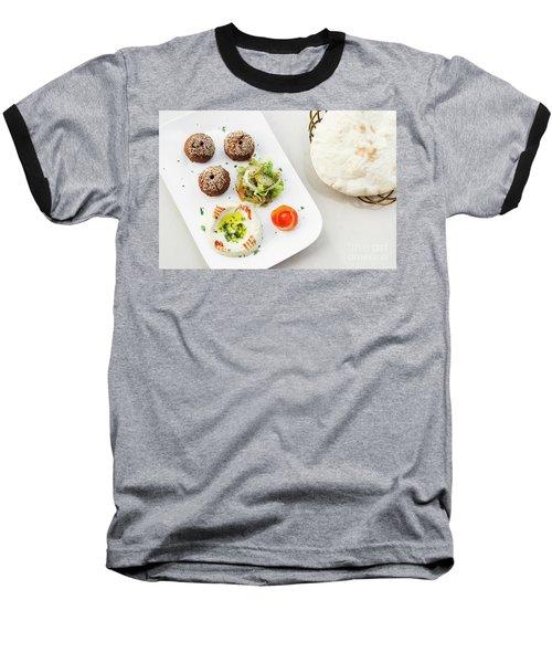 Falafel Hummus Houmus Starter Snack Food Mezze Platter Baseball T-Shirt