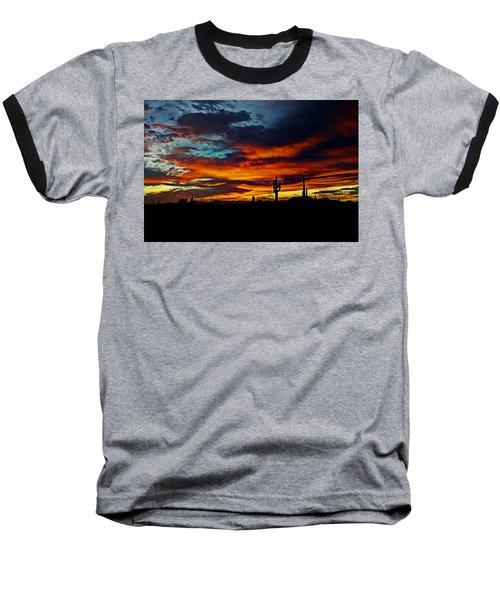 Fire Sky  Baseball T-Shirt