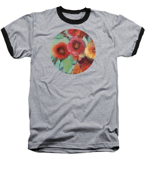 Floral Painting Baseball T-Shirt