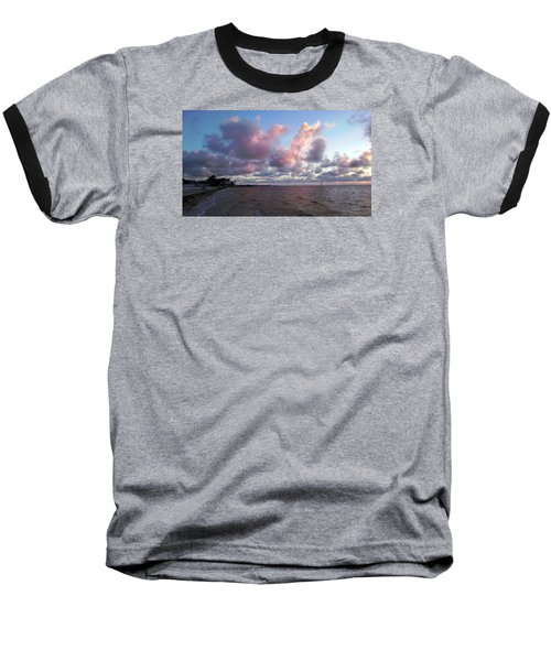 Baseball T-Shirt featuring the photograph Florida Sunset by Vicky Tarcau