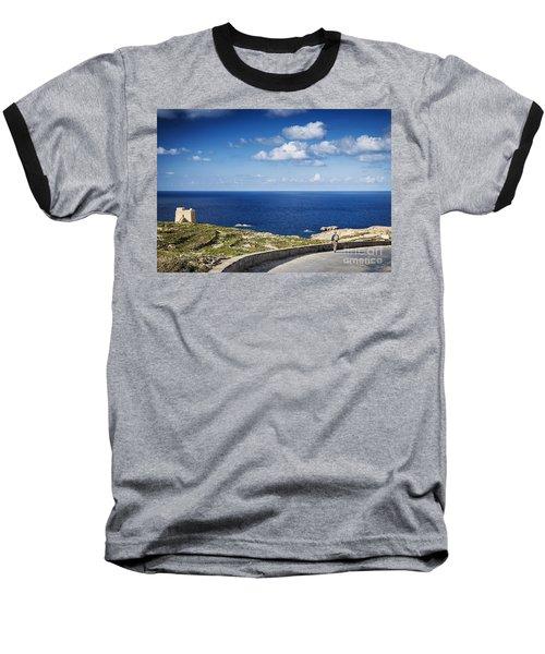 Fort And Coast View Of Gozo Island In Malta Baseball T-Shirt
