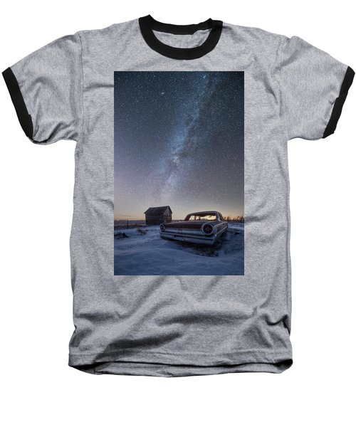 Baseball T-Shirt featuring the photograph 3 Galaxies  by Aaron J Groen