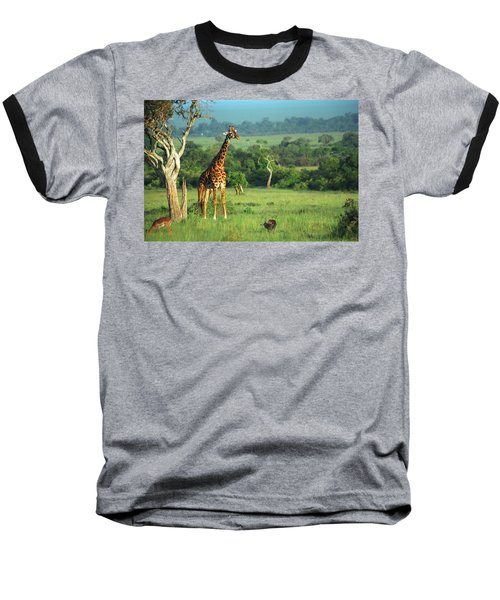 Giraffe Baseball T-Shirt