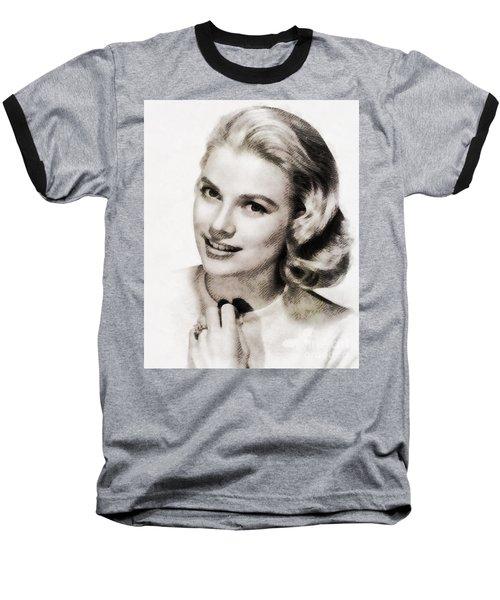 Grace Kelly, Vintage Hollywood Actress Baseball T-Shirt
