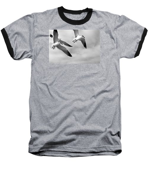3 Gulls Baseball T-Shirt by Robert Och