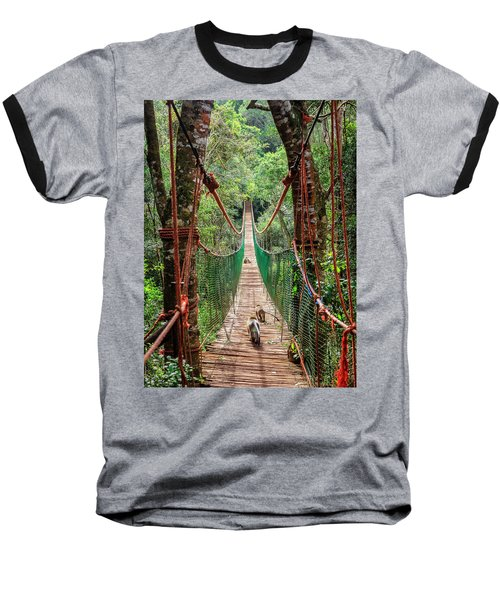 Baseball T-Shirt featuring the photograph Hanging Bridge by Alexey Stiop