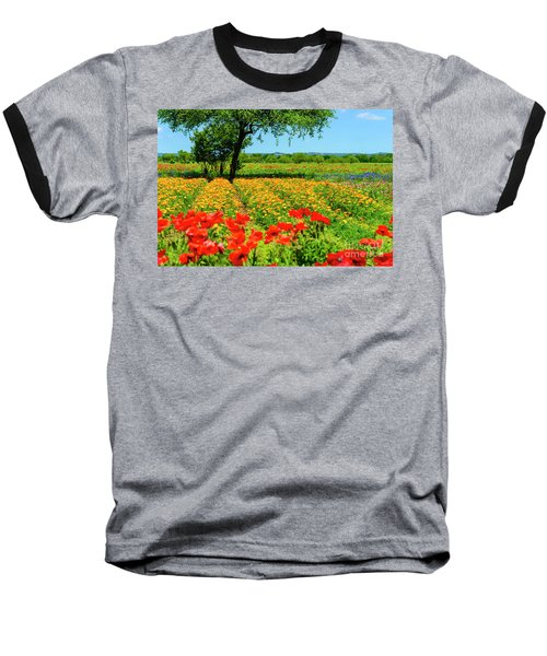 Hill Country In Bloom Baseball T-Shirt