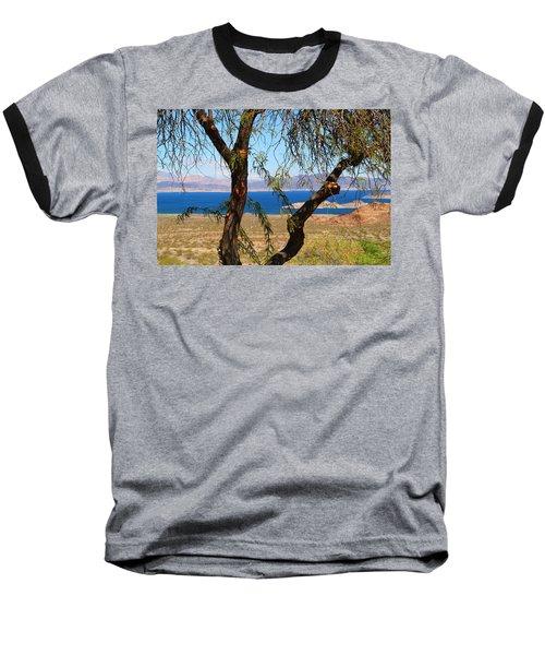 Hoover Dam Visitor Center Baseball T-Shirt by Kathryn Meyer