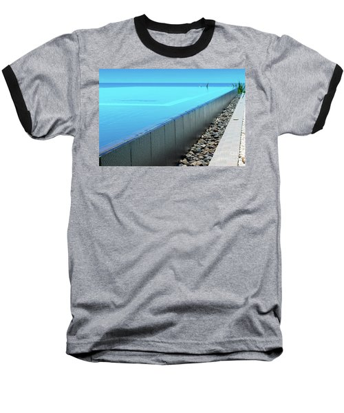 Baseball T-Shirt featuring the photograph Infinity Pool by Atiketta Sangasaeng