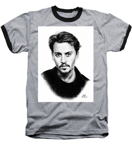 Johnny Depp Bw Version Baseball T-Shirt