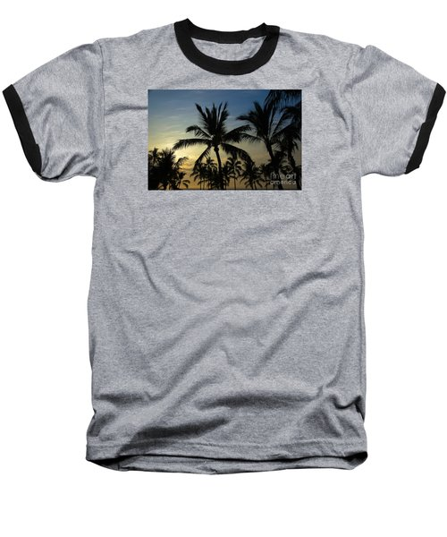 Baseball T-Shirt featuring the photograph Kona Sunset by Kelly Wade