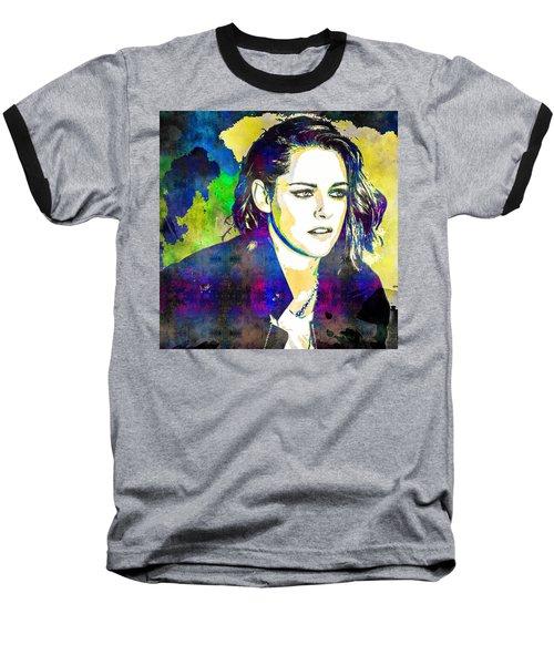Kristen Stewart Baseball T-Shirt by Svelby Art