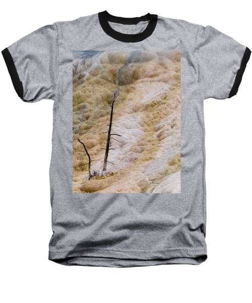 Mammoth Hot Spring Terraces Baseball T-Shirt