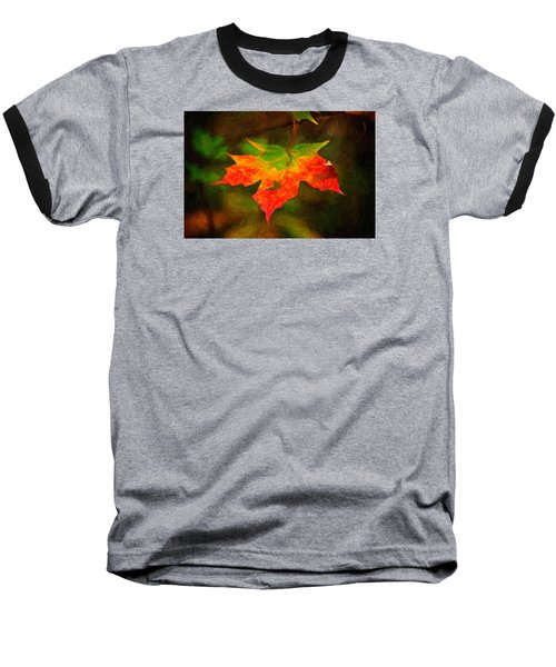 Maple Leaf Baseball T-Shirt by Andre Faubert