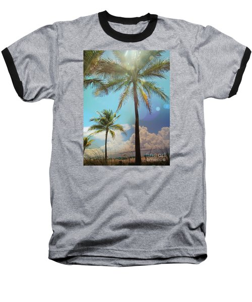 Baseball T-Shirt featuring the photograph Miami Palm Trees,  by France Laliberte